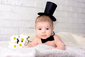 младенец с цветами в бабочке, фотограф в липецке, фото липецк, фотограф липецк