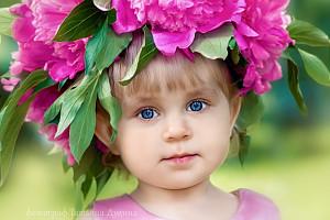 портрет девочки с венком на голове, фотограф в липецке, фото липецк, фотограф липецк